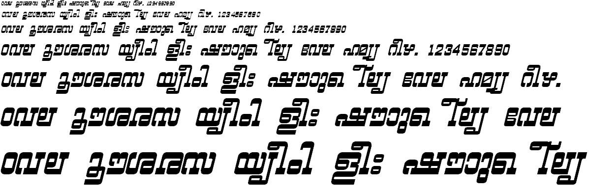 ML_TT_Yashasri Bold Italic Malayalam Font