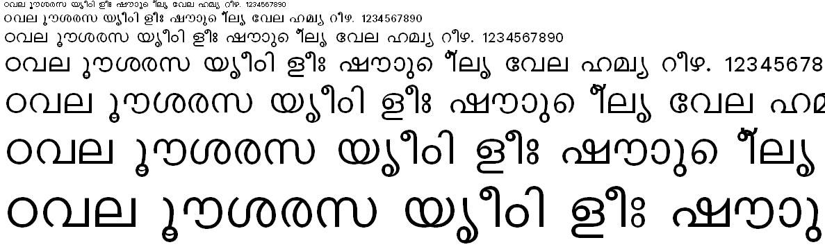 ML-TT_Karthika Normal Malayalam Font
