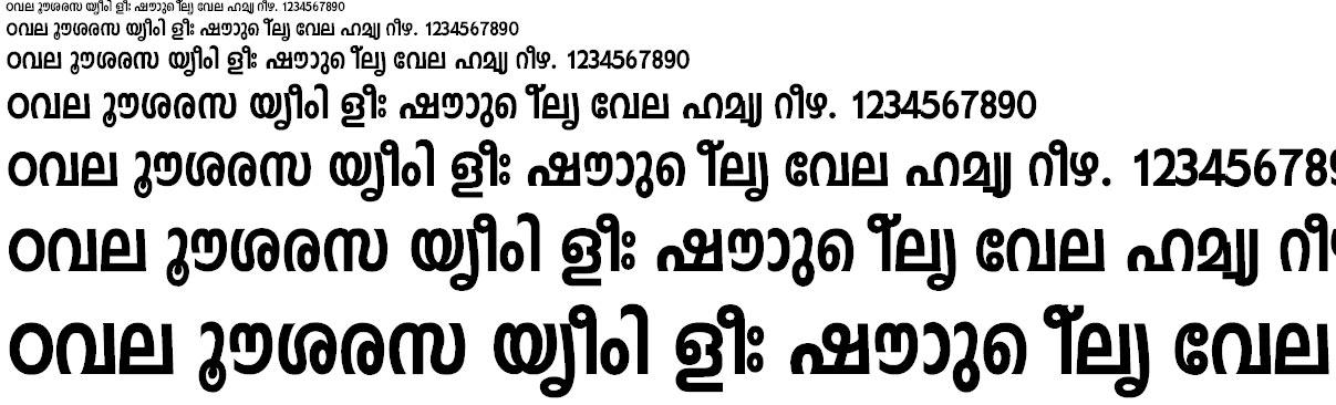 FML-Indulekha Heavy Bold Malayalam Font