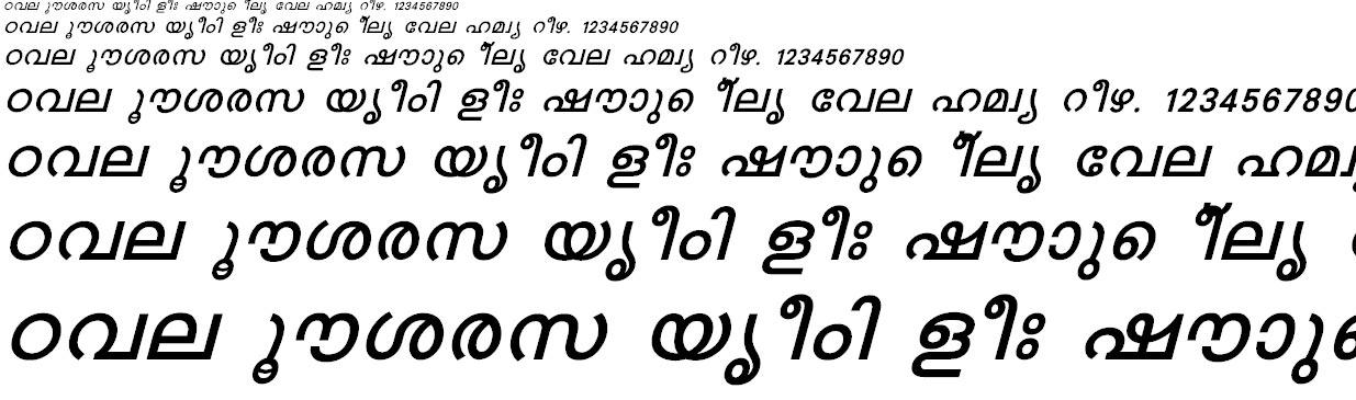 FML-Karthika Bold Italic Malayalam Font