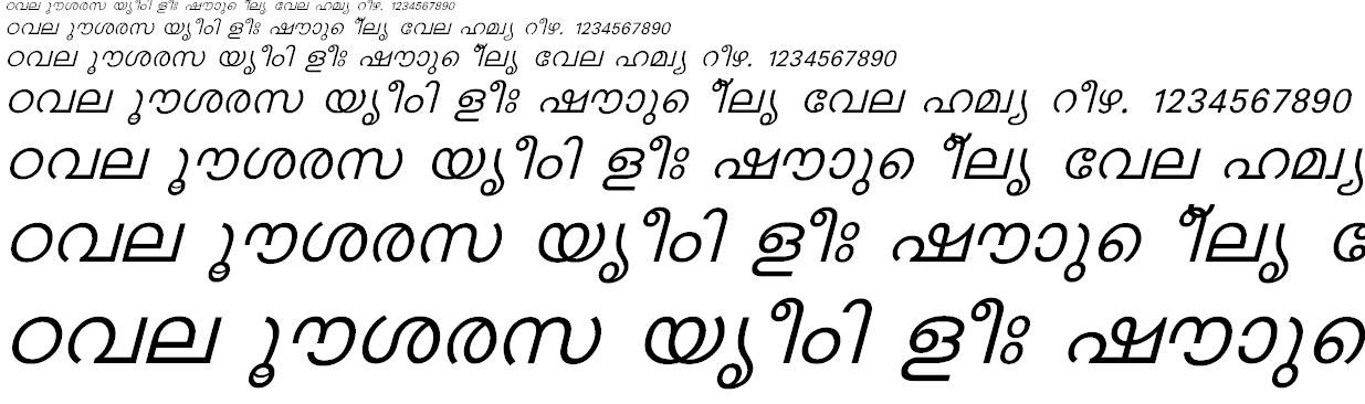 FML-Karthika Italic Malayalam Font