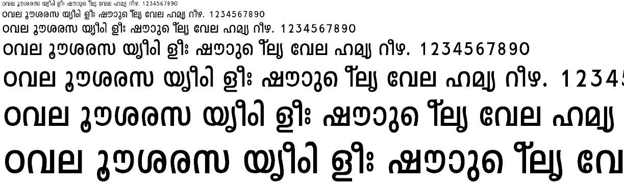 FML-Leela Bold Malayalam Font