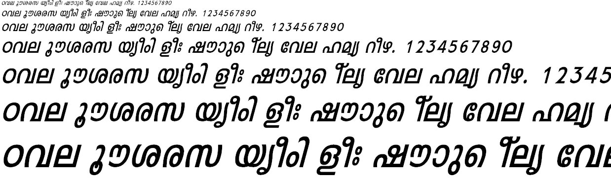 FML-Leela Bold Italic Malayalam Font