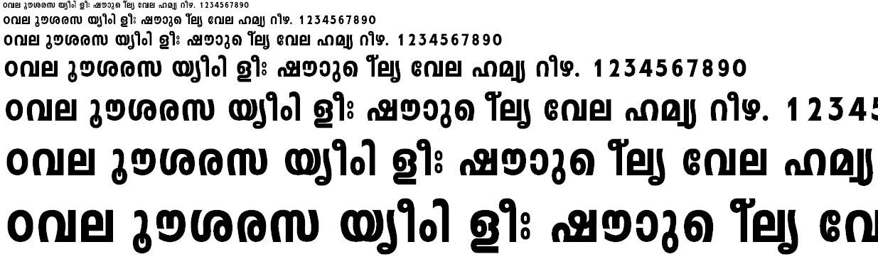 FML-Leela Heavy Malayalam Font