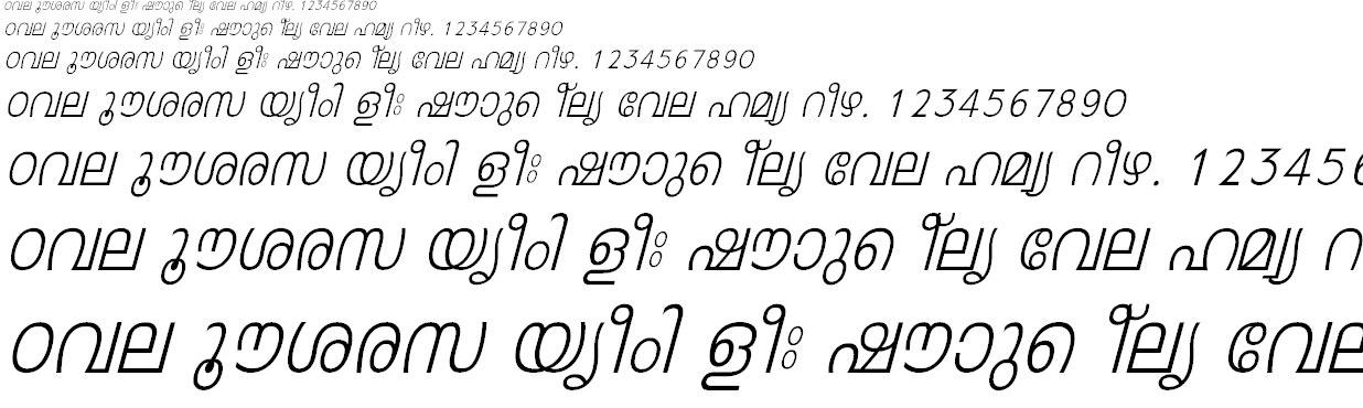 FML-Leela Italic Malayalam Font
