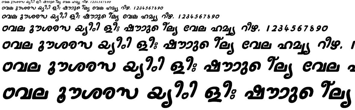 FML-Nanditha Bold Italic Malayalam Font
