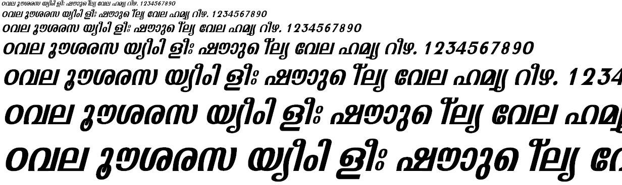 FML-Padmanabha Bold Italic Malayalam Font