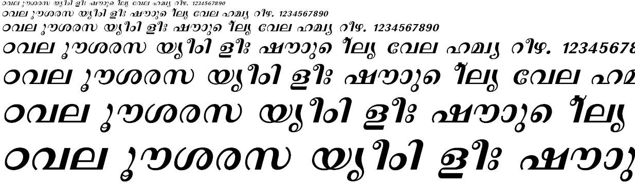 FML-Revathi Bold Italic Malayalam Font