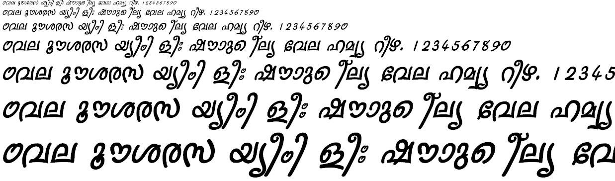 FML-Sruthy Bold Italic Malayalam Font