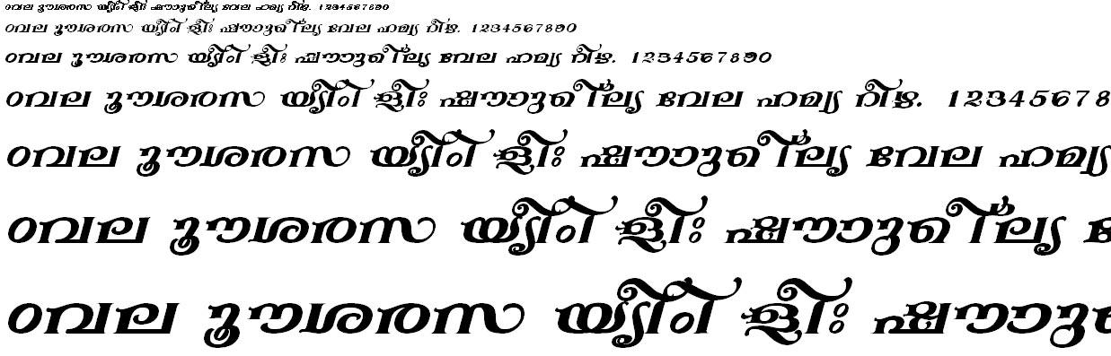 FML-TT-Anakha Bold Italic Malayalam Font