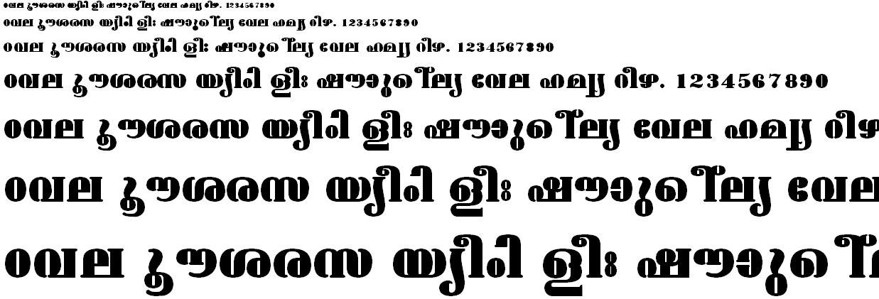 FML-TT-Ashtamudi ExBold Malayalam Font