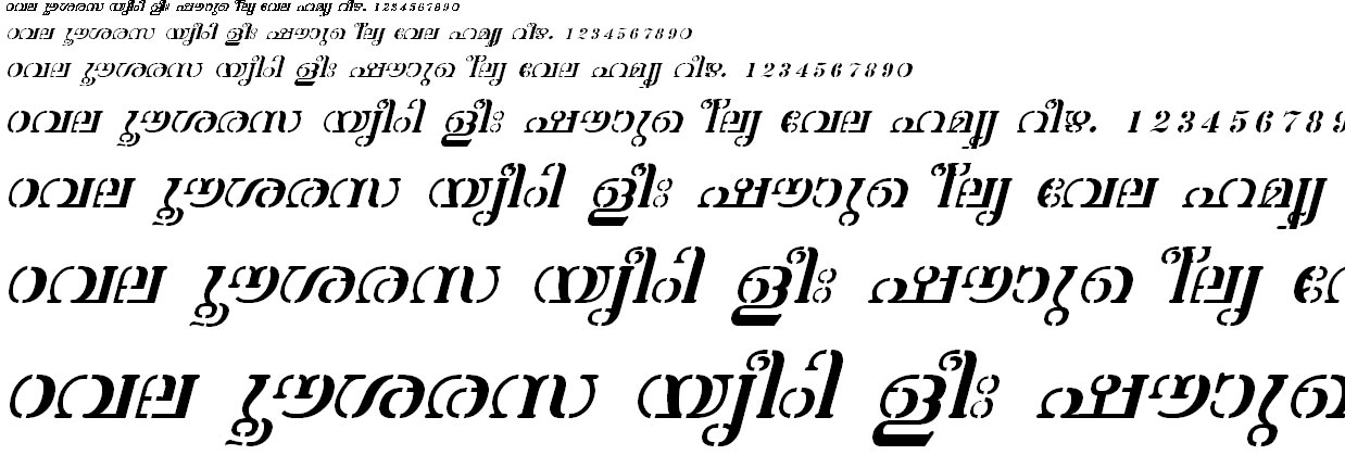 FML-TT-Atchu Italic Malayalam Font