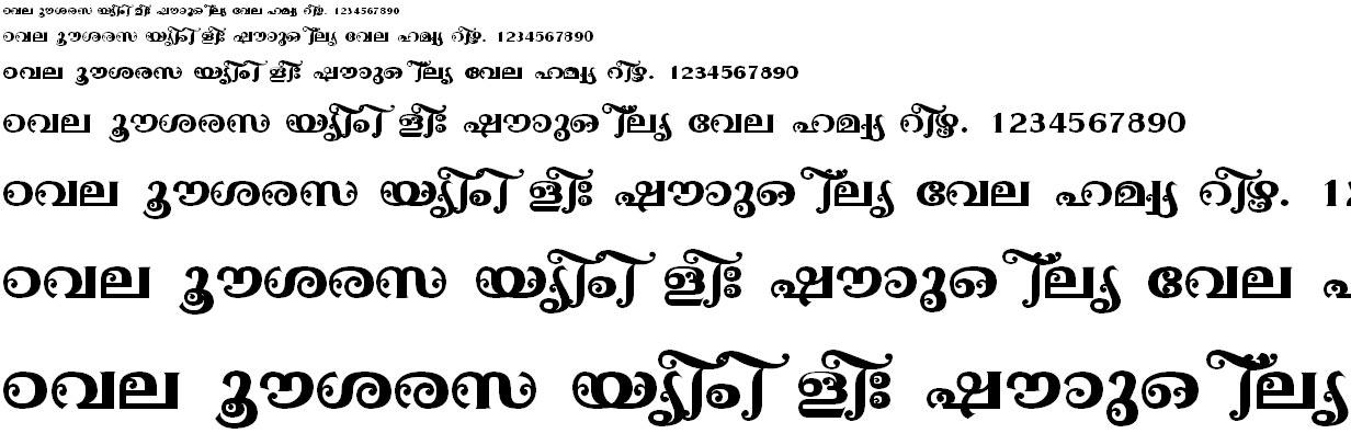 FML-TT-Ayilyam Bold Malayalam Font