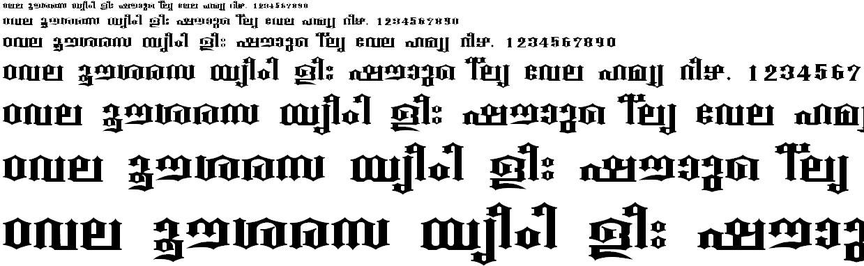 FML-TT-Beckal Bold Malayalam Font