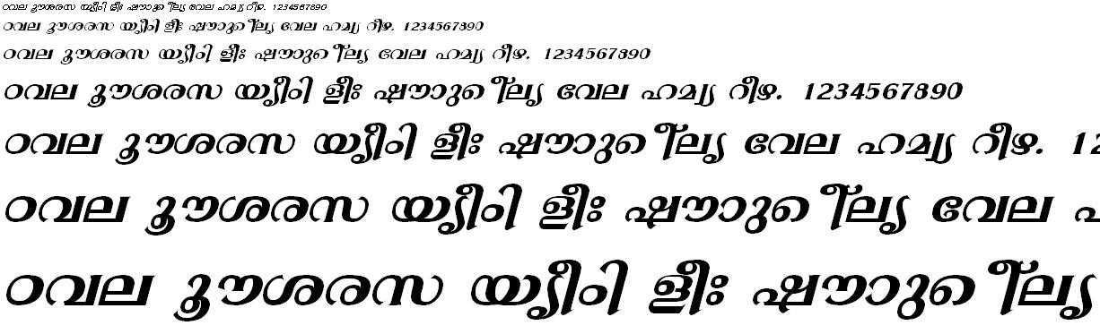 FML-TT-Gopika Bold Italic Malayalam Font