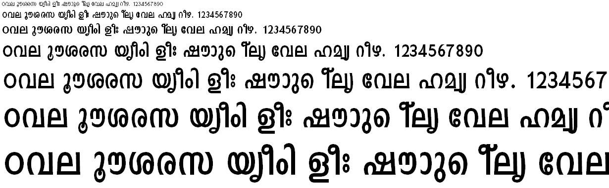 FML-TT-Indulekha Bold Malayalam Font
