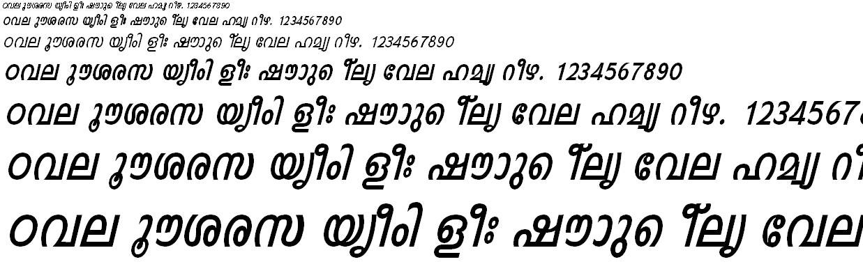 FML-TT-Indulekha Bold Italic Malayalam Font