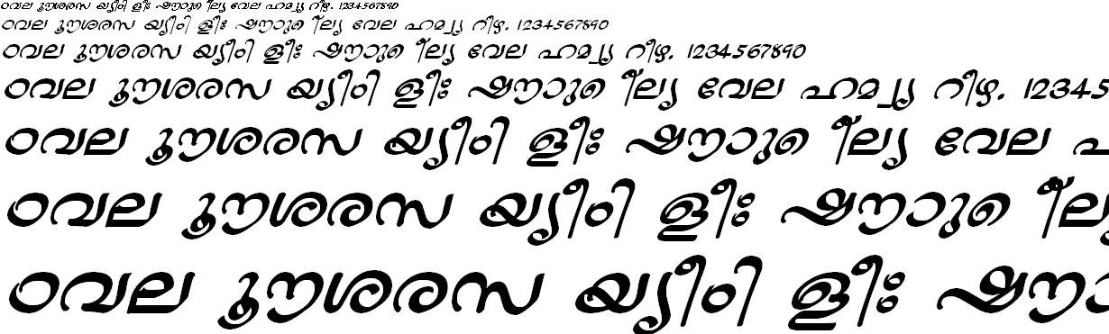 FML-TT-Jaya Bold Italic Malayalam Font