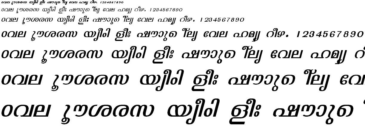 FML-TT-Jyothy Italic Malayalam Font