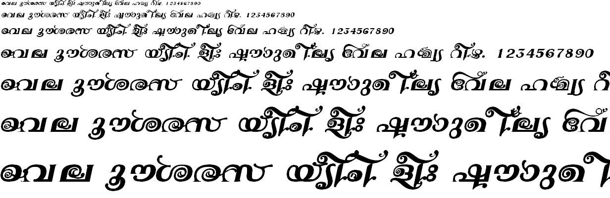 FML-TT-Jyotsna Bold Italic Malayalam Font