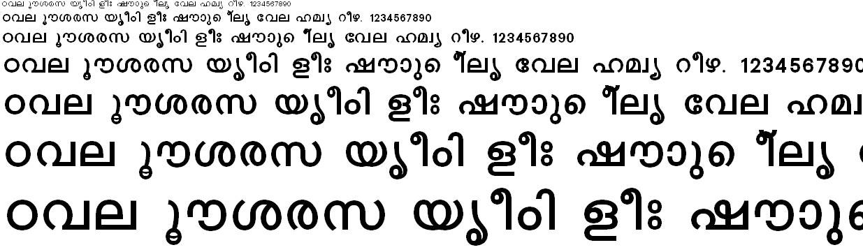 FML-TT-Karthika Bold Malayalam Font