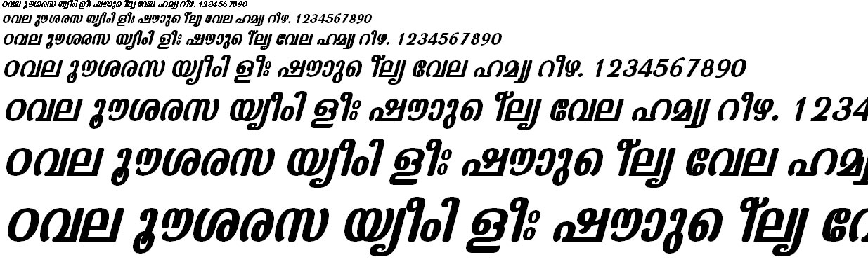 FML-TT-Kaumudi Bold Italic Malayalam Font