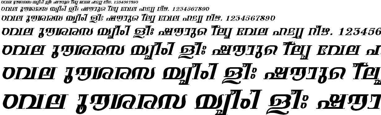 FML-TT-Keerthi Bold Italic Malayalam Font