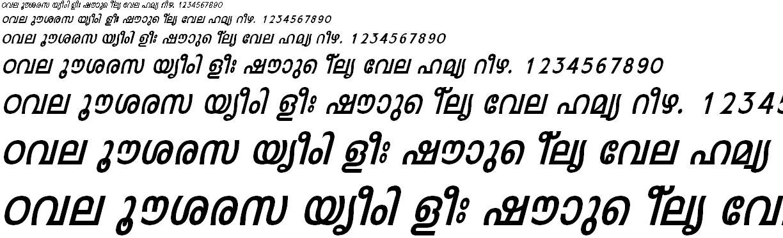 FML-TT-Leela Bold Italic Malayalam Font