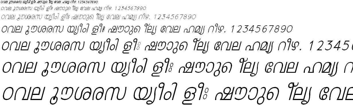 FML-TT-Leela Italic Malayalam Font