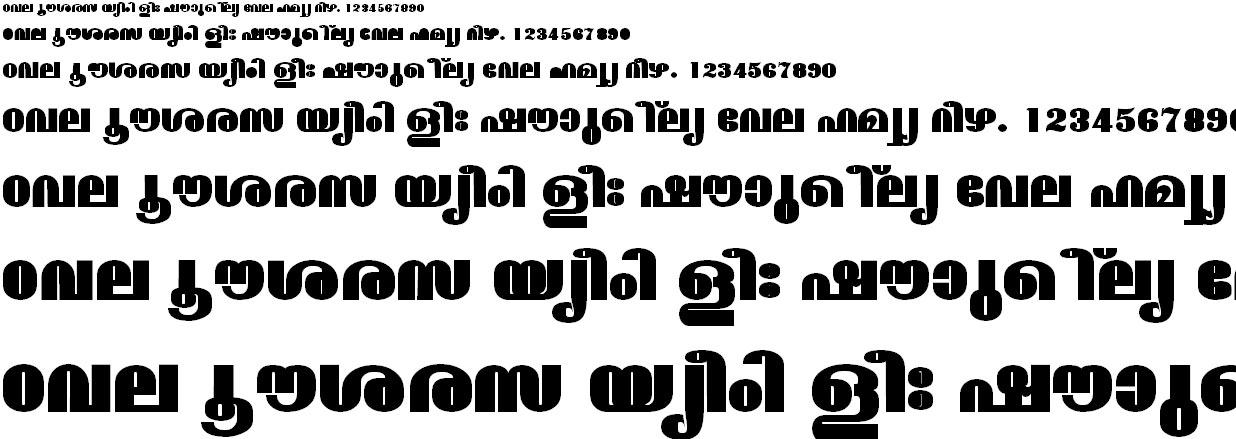 FML-TT-Madhavi ExBold Malayalam Font