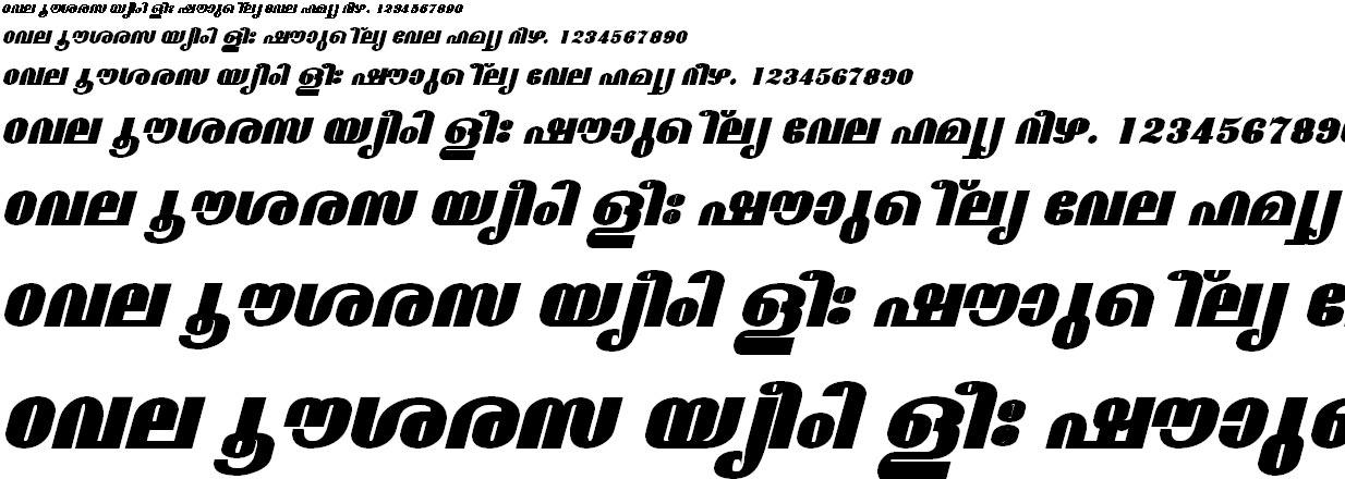 FML-TT-Madhavi ExBold Italic Malayalam Font