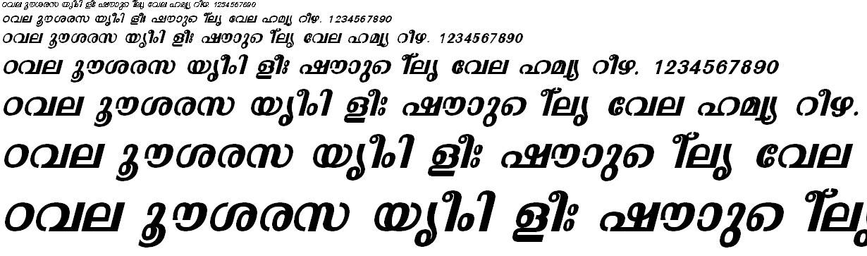 FML-TT-Malavika Bold Italic Malayalam Font