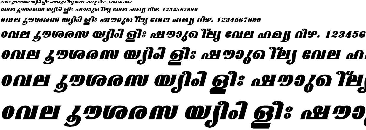 FML-TT-Mangala ExBold Italic Malayalam Font