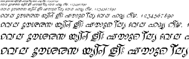 FML-TT-Nalini Italic Malayalam Font