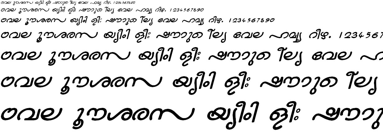 FML-TT-Nandini Bold Italic Malayalam Font