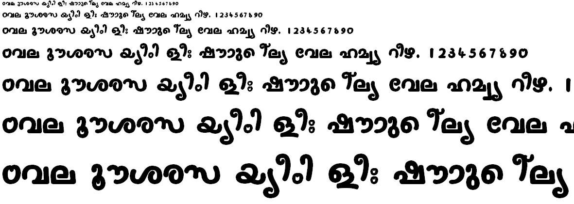 FML-TT-Nanditha Bold Malayalam Font