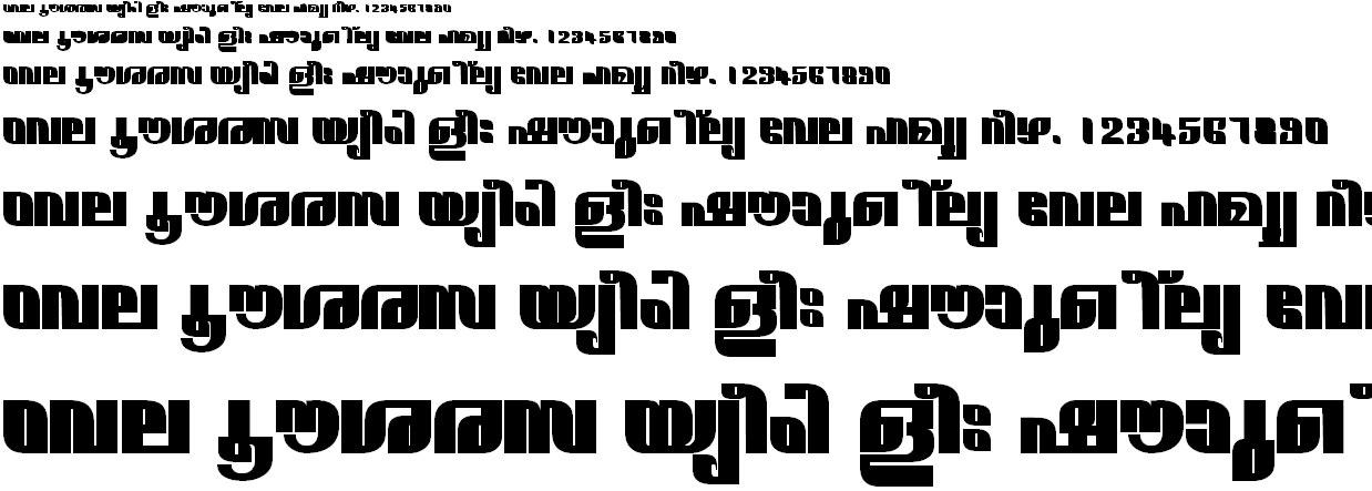 FML-TT-Narmada ExBold Malayalam Font