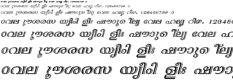 FML-TT-Nila Bold Italic Malayalam Font