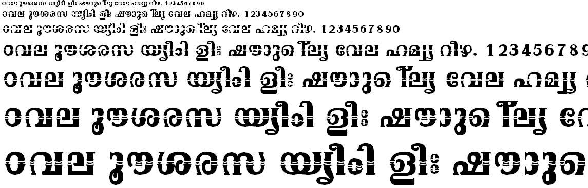 FML-TT-Onam Bold Malayalam Font