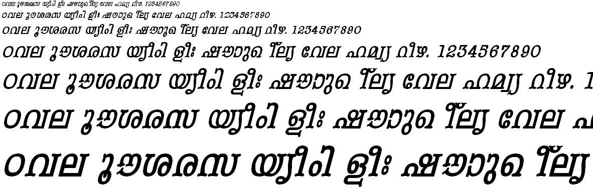 FML-TT-Periyar Bold Italic Malayalam Font