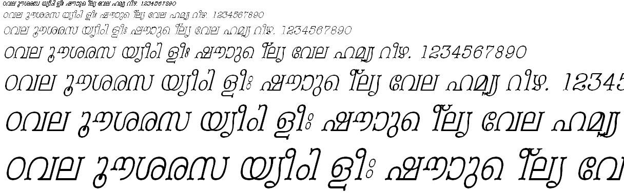 FML-TT-Periyar Italic Malayalam Font