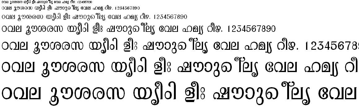 FML-TT-Pooram Malayalam Font