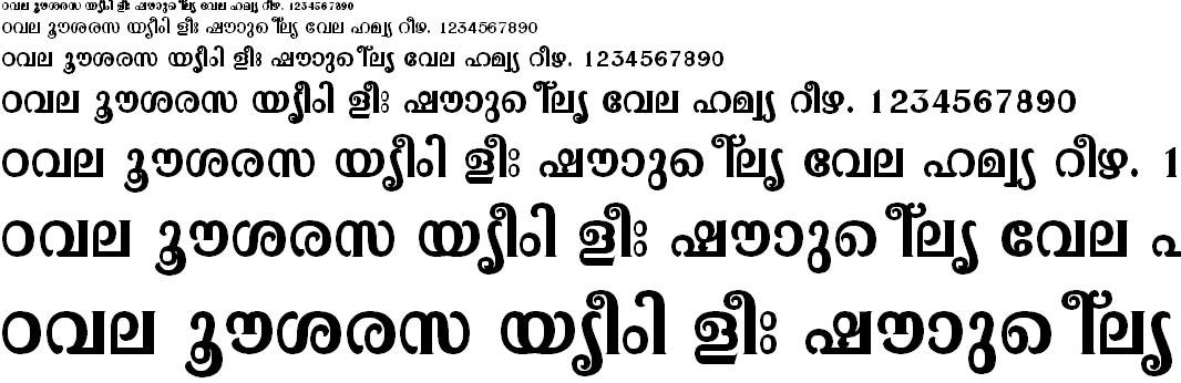 FML-TT-Pooram Bold Malayalam Font