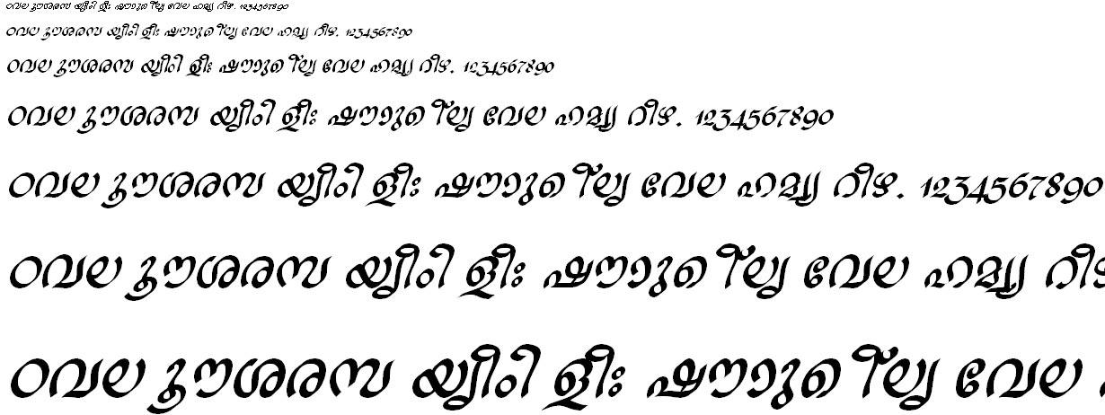 FML-TT-Ravivarma Bold Italic Malayalam Font