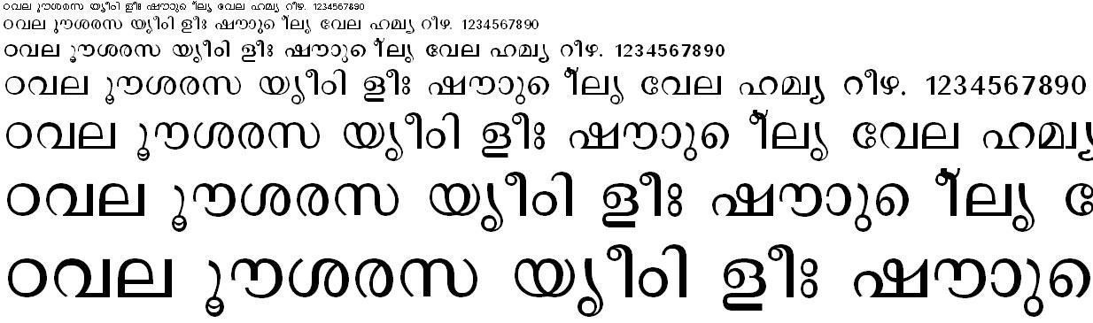FML-TT-Revathi Malayalam Font