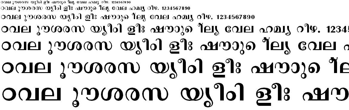 FML-TT-Revathi_Bold Malayalam Font