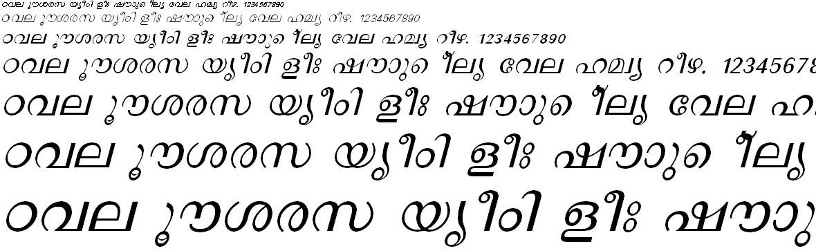 FML-TT-Revathi Italic Malayalam Font