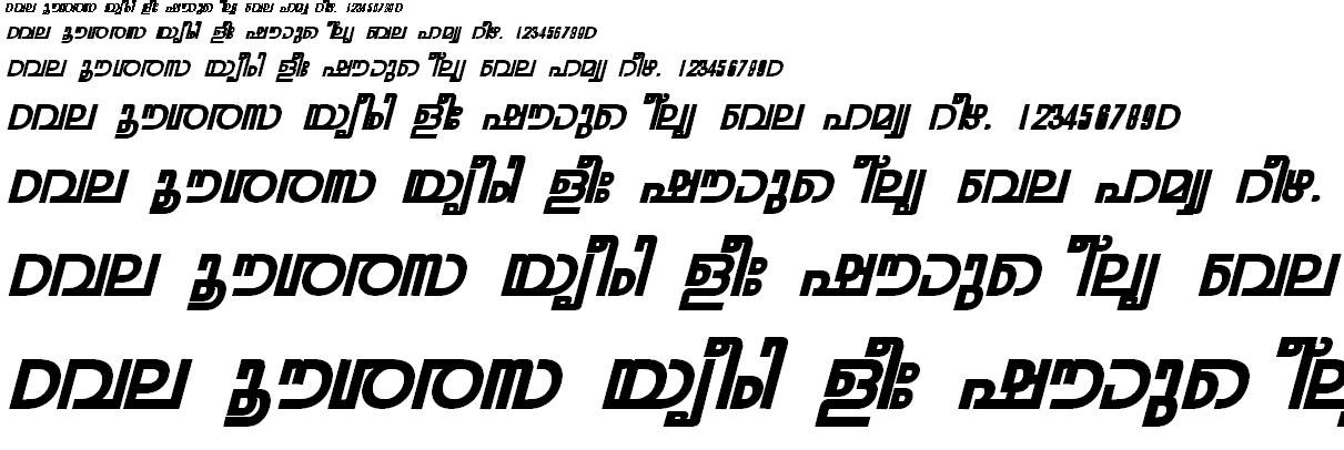 FML-TT-Rohini Bold Italic Malayalam Font