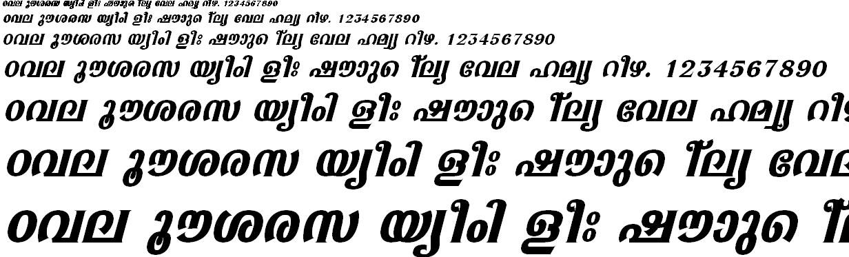 FML-TT-Sabari Bold Italic Malayalam Font