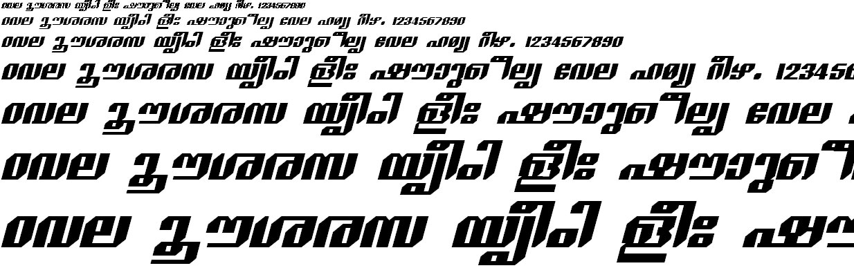 FML-TT-Sankara Bold Italic Malayalam Font
